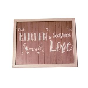 "Wall art - "" This kitchen is seasoned with love"""